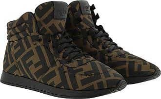 Fendi Sneakers - High Top Sneakers Nylon Tabacco/Black - brown - Sneakers for ladies