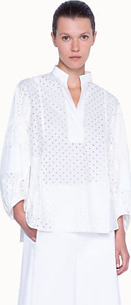 Akris Dotted Oversized Blouse with Volume Sleeves