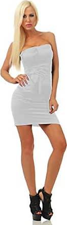 Neckholder Stretch Minikleid Sommerkleid A-Linie Schulterfrei 32 34 36 XS S