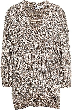 Brunello Cucinelli Brunello Cucinelli Woman Sequined Marled Knitted Cardigan Light Brown Size XS