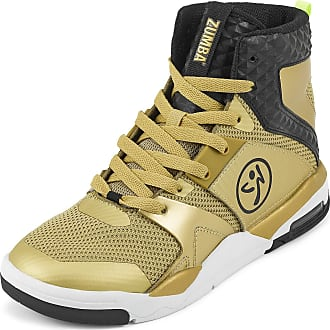 Zumba Air Classic Remix High Top Fitness Workout Dance Shoes for Women, Gold 0, 10.5 UK