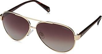 Polaroid Womens PLD 4061/S LA J5G 61 Sunglasses, Gold/Bw Black Brown