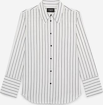 The Kooples White cotton shirt with black stripes - WOMEN