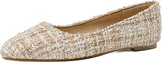 Mediffen Womens Round Toe Slip On Fashion Casual Flats Beige Size 33 Asian