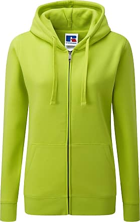 Russell Athletic Russell Ladies Premium Authentic Zipped Hoodie (3-Layer Fabric) (XS) (Lime)