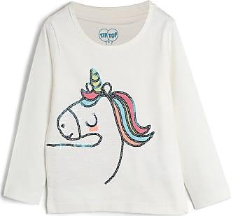 Tip Top Blusa Tip Top Infantil Unicórnio Off-White