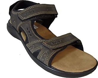 Roamers Triple Touch Fastening Sports Sandal - Brown - Brown - size UK Mens Size 9
