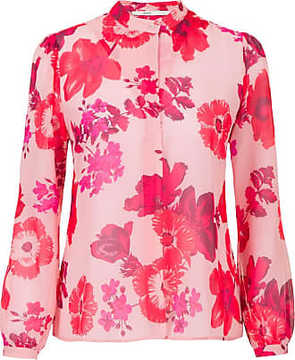 Steps Blouse roze-rode bloemenprint