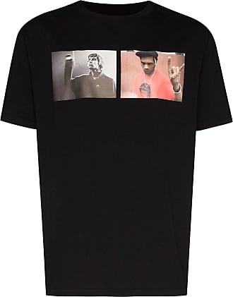 424 T-Shirt mit Liam Del-Print - Schwarz