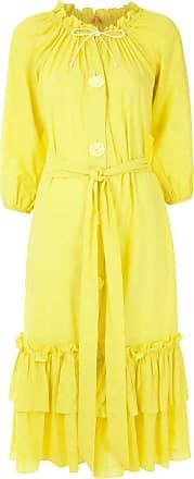 Clube Bossa Vestido midi Valerie - Amarelo
