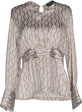 Beige Patterned top with gathers  Isabel Marant  Bluser - Dameklær er billig