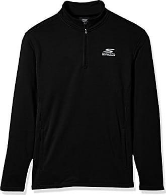 d0576c928116 Skechers Mens Go Walk Momentum 1 4 Zip Mock Neck Twill Back Fleece Jacket