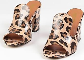 PARIS TEXAS Mules in Pelle Stampa Animalier 9 cm taglia 35,5