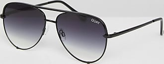 Quay High Key Mini aviator sunglasses in black fade