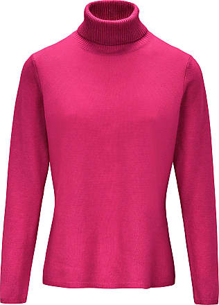 include Roll-neck jumper in pure new wool and cashmere include bright pink
