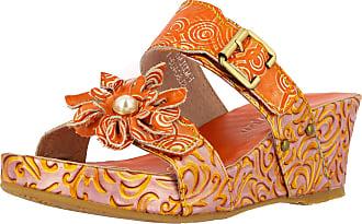Laura Vita Facdiao 21 Ladies Fashion Clogs, schuhgröße_1:39, Farbe:Orange