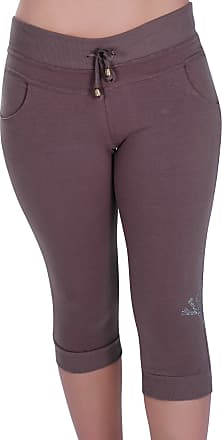 Eyecatch Womens Skull Capri Crop Pants Jersey Stretch Ladies 3/4 Trousers X-Large