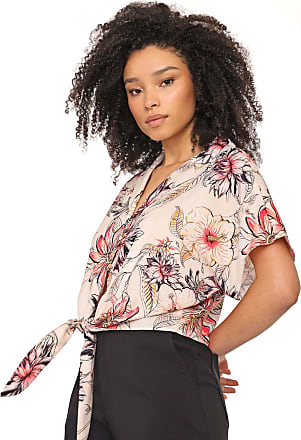 Dimy Camisa dimy Floral Bege/Rosa