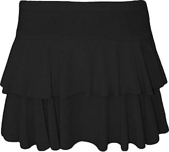 21Fashion Womens Mini RARA Skirt Ladies Dance Club Party Fancy Dress Frill Short Skirt Black Large/X-Large