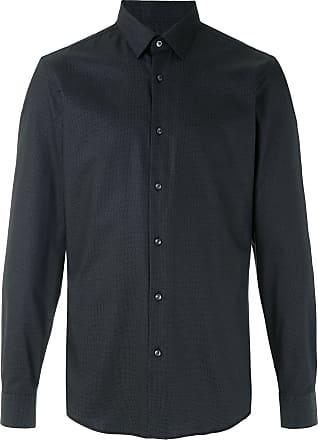 BOSS Camisa de algodão estampada - Preto