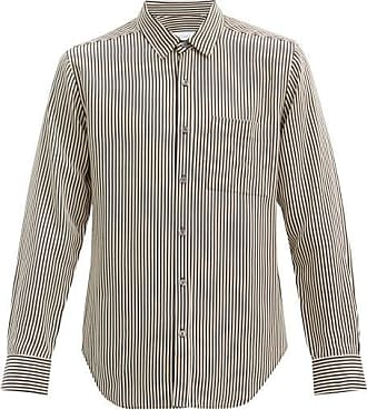 Equipment Patch Pocket Striped Twill Shirt - Mens - Black White
