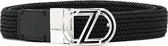 Ermenegildo Zegna logo buckle belt - Black