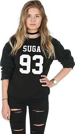 Sanfran Clothing Sanfran - Suga 93 Kpop Fangirl Jimin Kawaii G-Dragon Jumper Sweater - Extra Large/Black