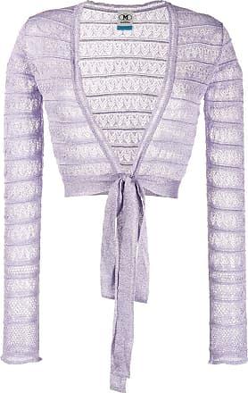 M Missoni cropped lace jacket - PURPLE