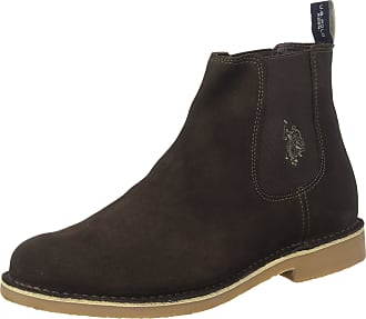 U.S.Polo Association Mens Faust5 Chelsea Boots, Brown (Dark Brown DKBR), 10 UK