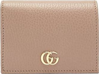 Gucci GG Marmont Grained-leather Wallet - Womens - Nude