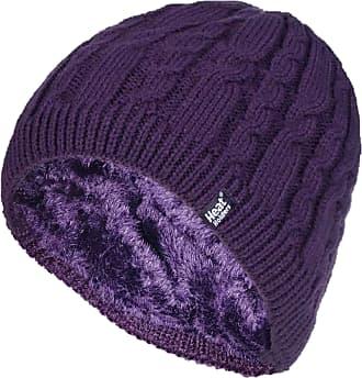 Heat Holders 1 Ladies Genuine Heatweaver Thermal Winter Warm HAT 5 Variations - Alesund, Nora, Solna, Areden, Lund (Purple - ALESUND)