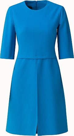 Akris Elbow Sleeve Wool Double Face Dress