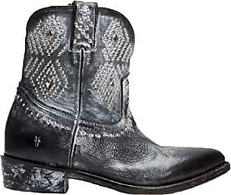 Frye Womens Billy Stud Short Western Boot, Black, 9.5 M US