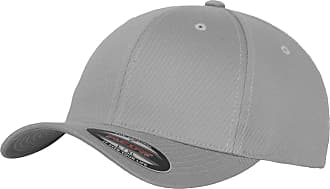 Yupoong Mens Flexfit Fitted Baseball Cap (SM) (Silver)