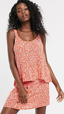 Urban Bliss palm print cami co-ord-Orange