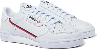adidas Originals Continental 80 Grosgrain-trimmed Leather Sneakers - Light blue