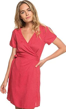 f3de57dbeb3 Roxy Monument View - Robe portefeuille manches courtes pour Femme - Rouge -  Roxy