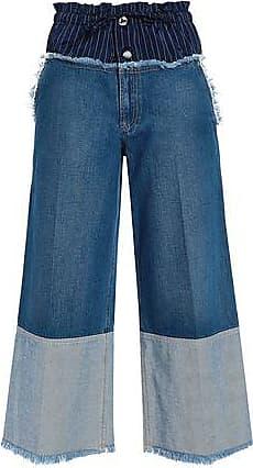 cb823c94f5 Sonia Rykiel Sonia Rykiel Woman Pinstriped Satin-paneled High-rise Wide-leg  Jeans