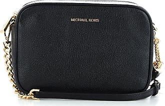 16b3e02a2c Michael Kors WOMENS 32F7GGNM8L001 BLACK LEATHER SHOULDER BAG