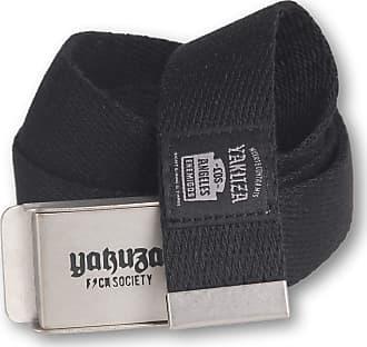 Yakuza Unisex Belt Enemigos Canvas, Color:black, Size:one size