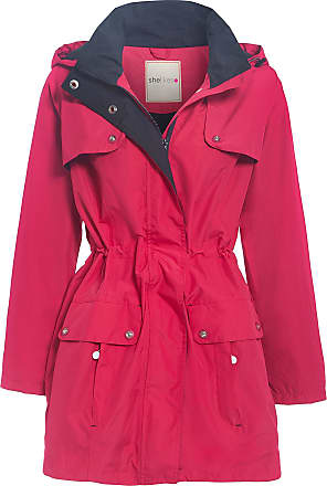 shelikes New Womens Hooded Plain Outdoor Waterproof Jacket Rain Coat