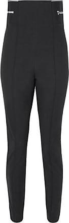 T Alexander Wang Cotton-blend Jacquard Skinny Leggings - Black