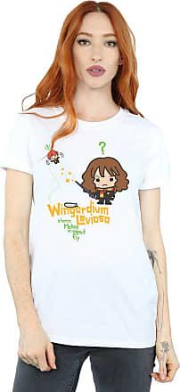 Harry Potter Womens Hermione Granger Wingardium Leviosa Junior Boyfriend Fit T-Shirt X-Large White