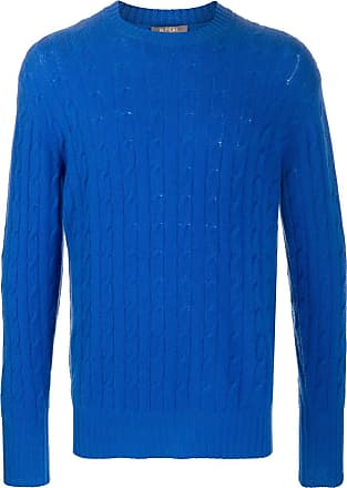 N.Peal The Thames cable-knit jumper - Blue
