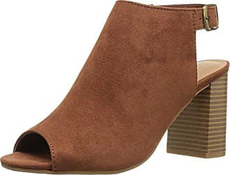 Chinese Laundry Womens Bestie Peep Toe Bootie, Cinnamon Super Suede, 6 M US