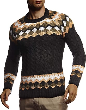 Leif Nelson Mens Pullover Knit Sweater LN-5235