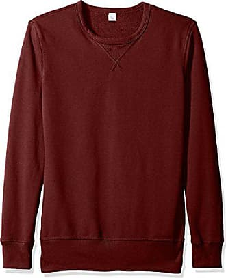 Alternative Mens Vintage Sport French Terry B-Side Reversible Crew Neck, Maroon, L