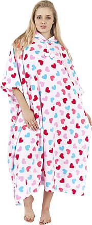 Love my Fashions Bryanna Heart Print Hooded Fleece Poncho Blanket