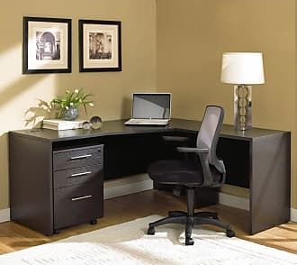 Unique Furniture 100 Series L-Shaped Desk with Mobile Pedestal - 100COMBO7-ESP
