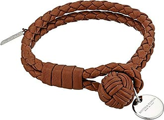 Bottega Veneta Intrecciato Leather Bracelet (Dark Leather) Bracelet
